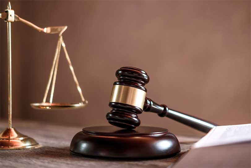 judge gavel with justice lawyers object documents EL4ZG8B